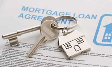 Keys to a new home on a mortgage agreement