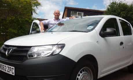 Miles Brignall with the Dacia Sandero, the UK's cheapest new car.