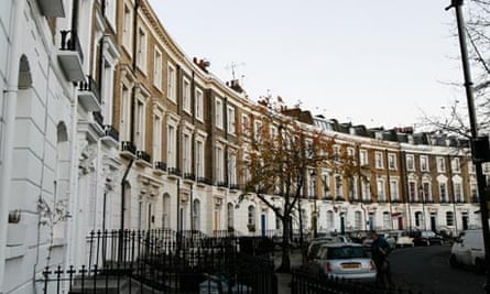 A terrace of Georgian houses in Islington, London