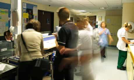 An NHS hospital ward reception