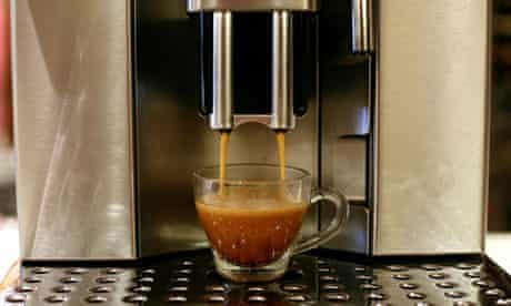 A cup of coffee being made