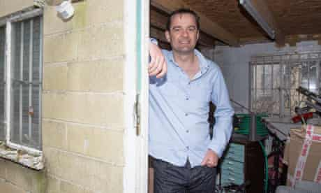 Graphic Designer Andy Fuller rents his spare garage out for £100 a month.