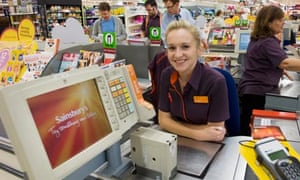Student Jenny Parcell working in a Sainsbury's