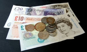 UK pound notes and coins