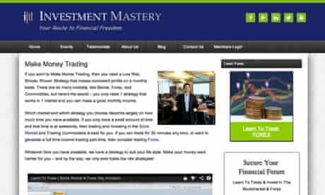Investment mastery screengrab