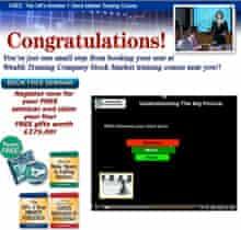 Wealth training company screengrab