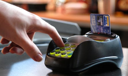 Paying with a debit card