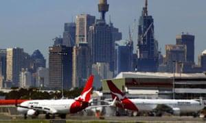 Aeroplanes at Sydney airport