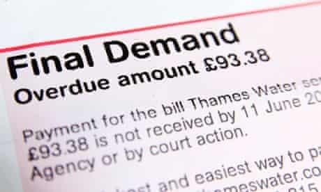 A final demand for an overdue Thames Water bill