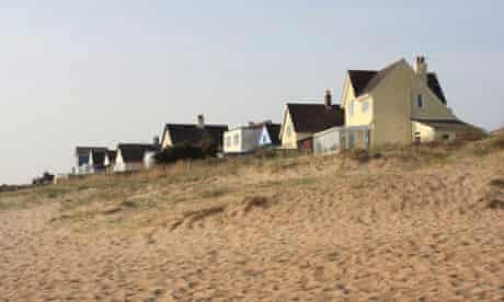 Holiday homes overlooking the beach at Anderby Creek, Lincolnshire