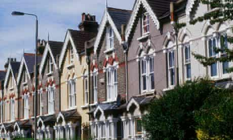 Gothic-style Victorian terraced houses in south London
