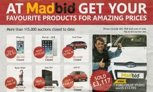 Madbid advert