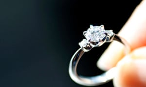 14d3dbc6771 An engagement ring is displayed at a jewellery store