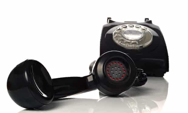 Retro black phone