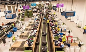 Oxfam's Wastesaver recycling plant in West Yorkshire