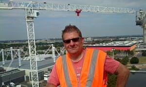 Crane driver Nigel Howard