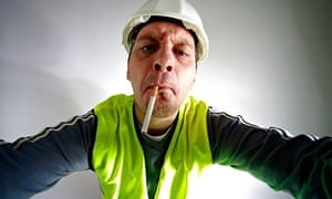 Obstinate construction worker