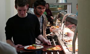 Leicester University dining room