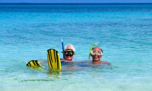 pensioners snorkling