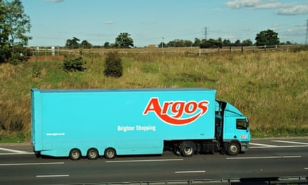 An Argos delivery truck