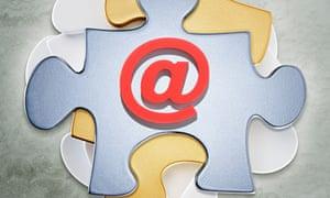 Puzzle Pieces and @ Symbol