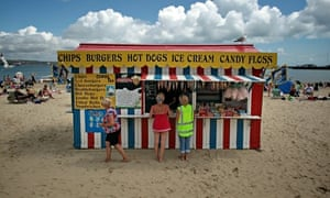 Beach holiday in the UK