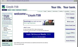 Lloyds bank online banking web page