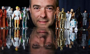 Nick Dykes with his collection of Star Wars figures