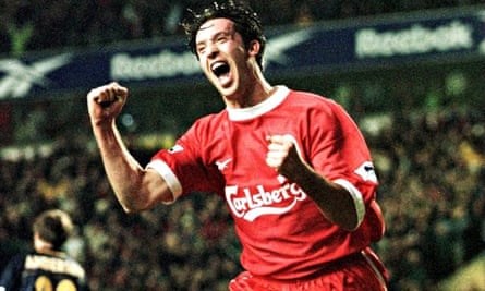 Robbie Fowler plays for Liverpool