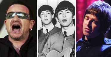 U2, the Beatles and Oasis