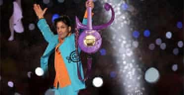 Prince musician at Super Bowl