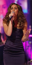 Leona Lewis performs during Children in Need Appeal