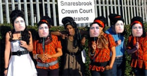 Amy Winehouse fans gather in Snaresbrook as singer attends the Crown Court in support of her husband Blake Fielder-Civil