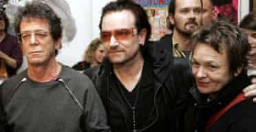 Lou Reed and Laurie Anderson (and Bono)