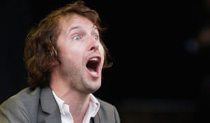 James Blunt performs at the Glastonbury Festival