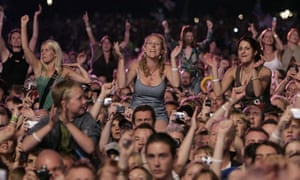 Crowd Of People At A Music Event