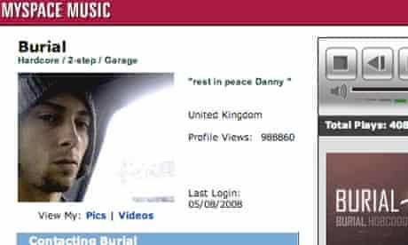Burial reveals himself as Will Bevan on MySpace