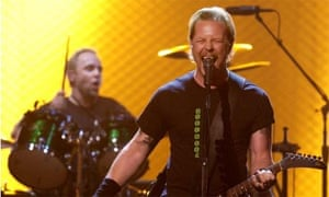 James Hetfield, right, and Lars Ulrich of Metallica