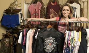 Hanna Rochell Schmieder poses with her Lyric Culture clothing line