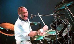 Phil Collins at the drums