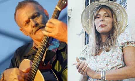 Folk guitarist Davy Graham and Joni Mitchell