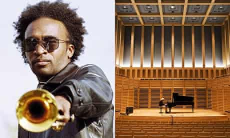 Jazz trumpeter Abram Wilson and the interior of Kings Place