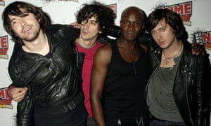 Dirty Pretty Things including Carl Barat (far R) pose in the Awards Room at the Shockwaves NME Awards 2006