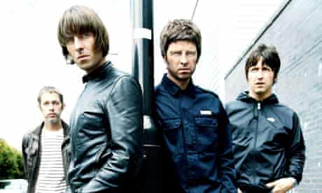 Oasis posing for Dig Out Your Soul