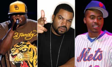 L-R: Rappers Scarface, Ice Cube and Nas