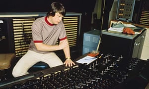 Brian Wilson of the Beach Boys in the studio