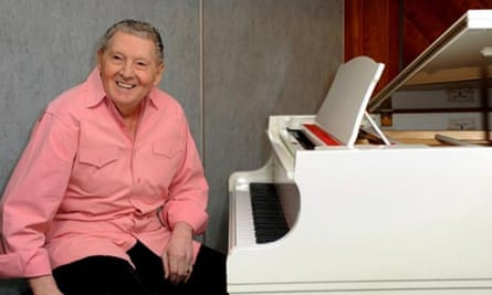 Jerry Lee Lewis at the start of his 2008 European tour