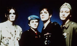 Welsh band the Manic Street Preachers pictured with missing member Richey Edwards