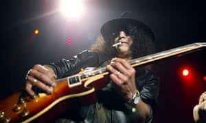 Slash of Guns N' Roses performs in New York in 2003. Photograph: Scott Gries/Getty