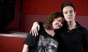 Glasvegas' James Allan with Geraldine Lennon